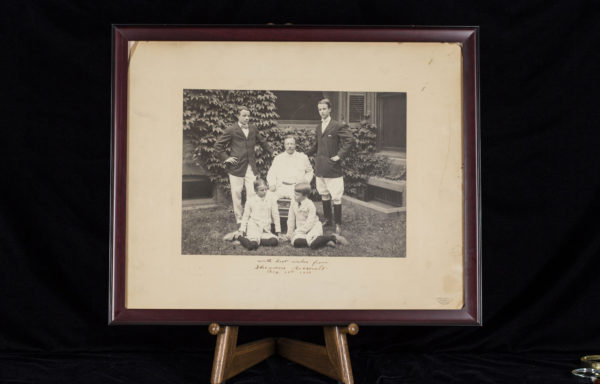A well known image from the family portraits taken that day, the imposing photograph has the noted Pach Brothers studio imprint