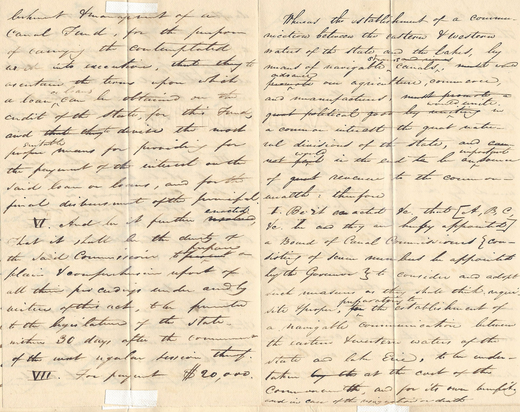 Authentic Document from the Canal Era: Pennsylvania, Seeing the Tremendous Success of New York's Erie Canal, Will Rise to the Occasion and Build Canals