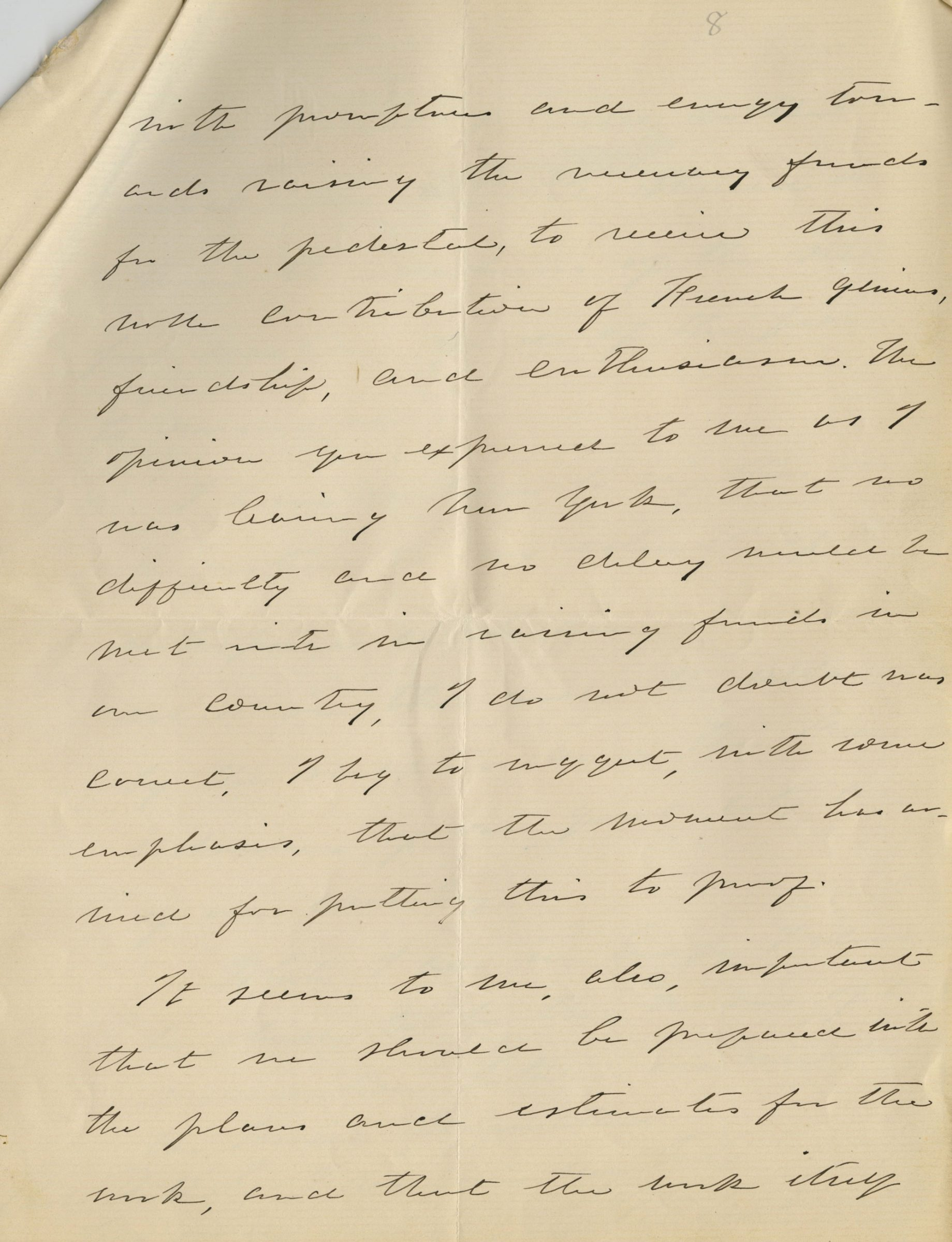 """Authentic Document with the Call to Fund the Statue of Liberty: """"the moment has arrived for putting this to proof."""""""